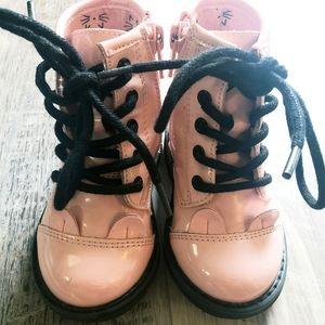 Childrens Place pink leather boots